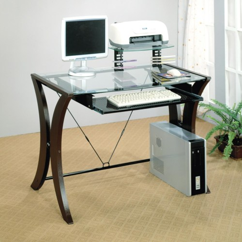 Division table desk with glass top