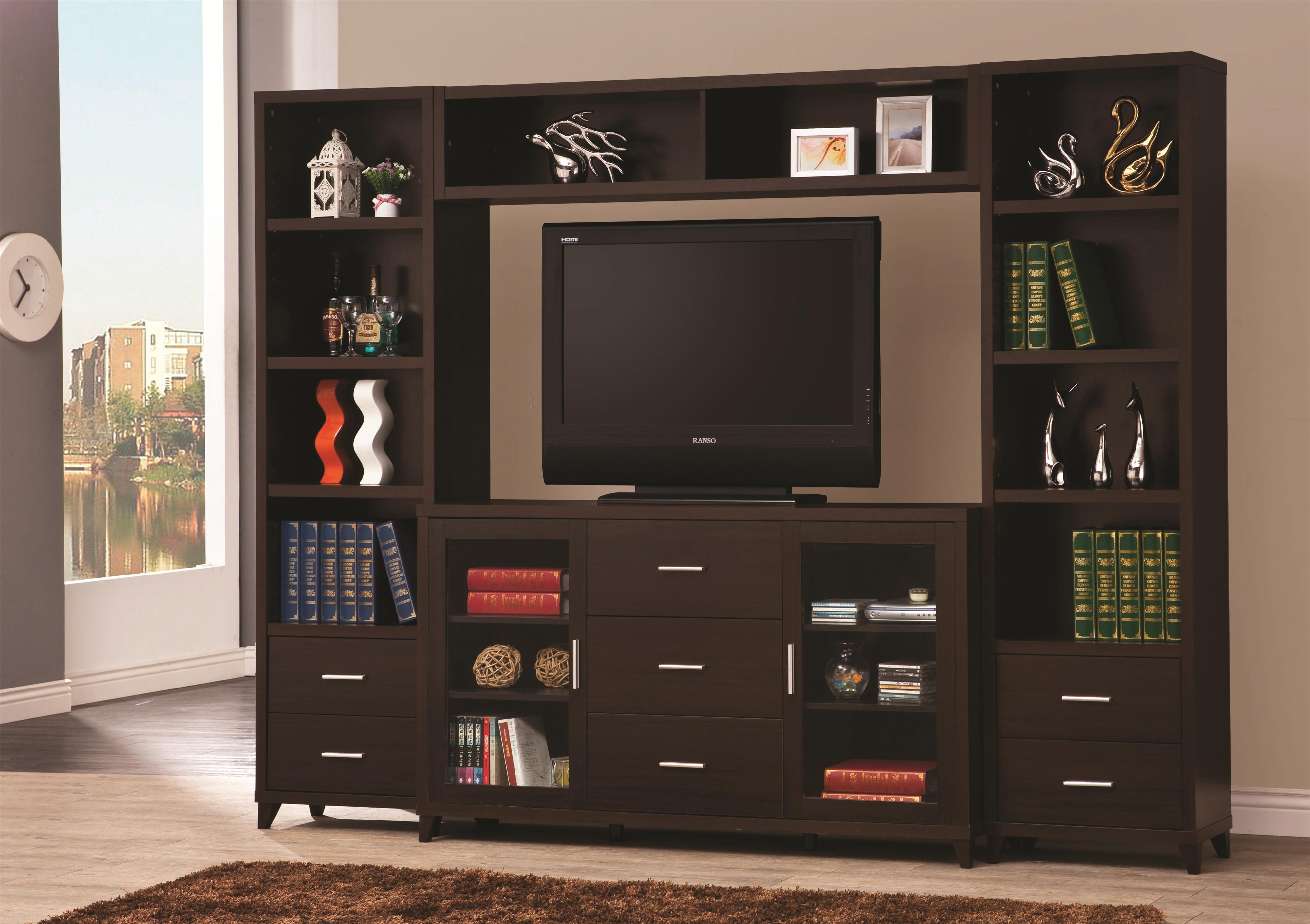 700881 Entertainment Units Cuccino Wall Unit Tv Stand Console