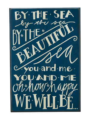 By the sea - you & me - box sign 10