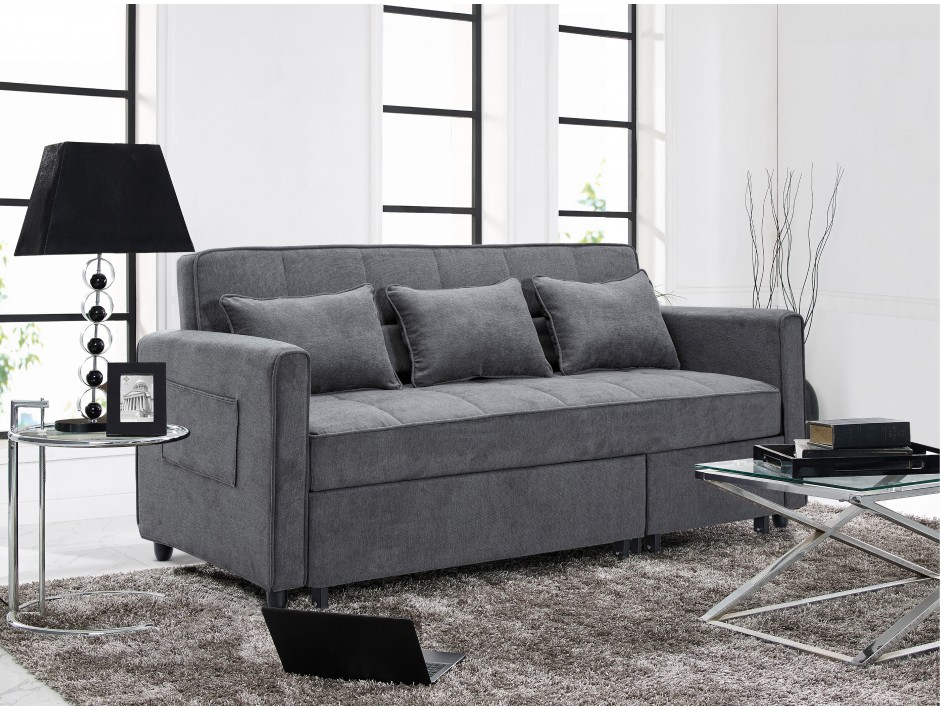 Montage multi-functional sofa , converts to a bed or sectional